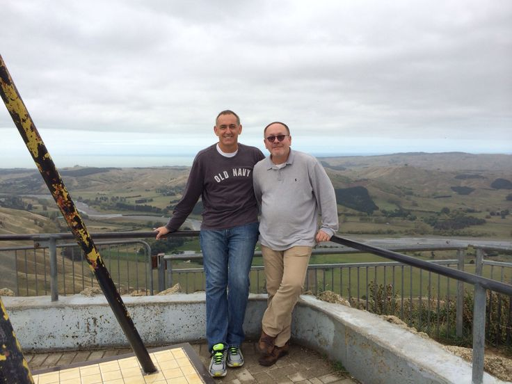 My gorgeous friends,  James and TJ, taken at Te Mata Peak 23rd March 2014