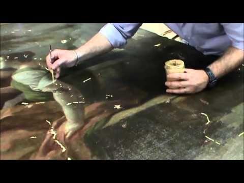Restauro dipinti: come si ripulisce un quadro antico? - YouTube