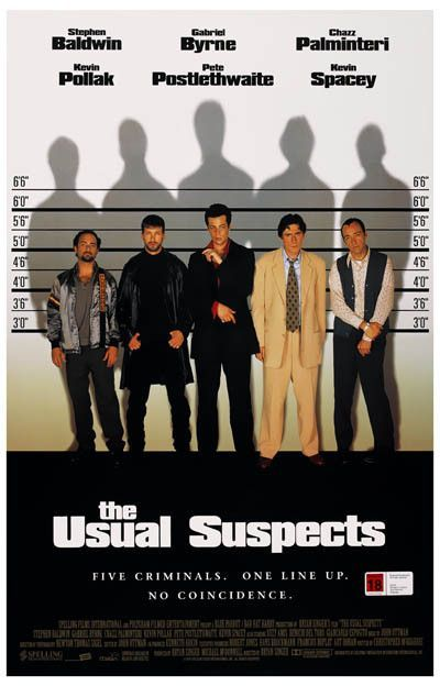 The Usual Suspects Cast Line-Up Kevin Spacey Movie Poster 11x17