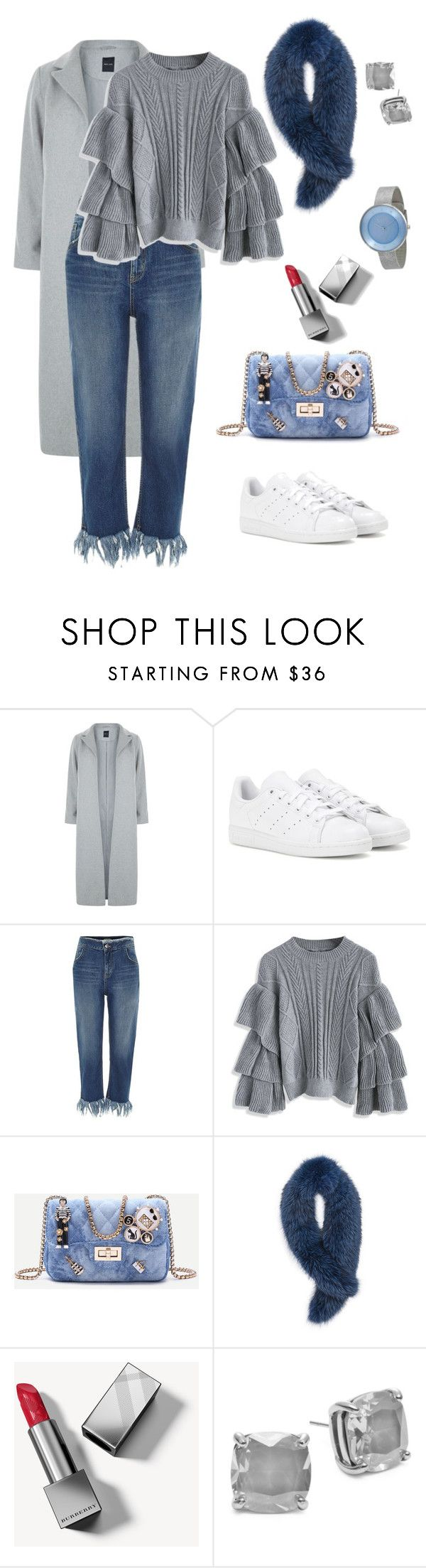 """""""Ootd: day#3"""" by pana-canaj on Polyvore featuring moda, New Look, adidas, River Island, Chicwish, Andrew Marc, Burberry, Kate Spade e Skagen"""