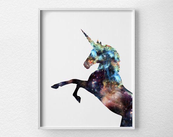Einhorn-Print Einhorn Kunst Einhorn Silhouette Einhorn von Loftipop