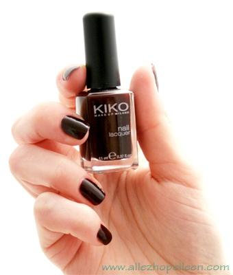 Vernis Kiko 226, dupe du Rouge Noir de Chanel ?