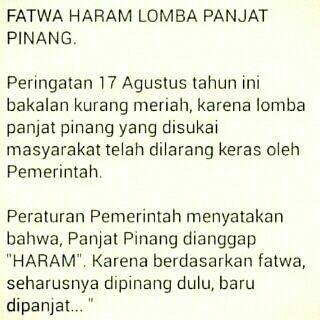 Fatwa haram lomba panjat pinang... | #indonesia #17an #kemerdekaan