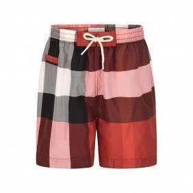 72136ec65e99d Burberry Baby Boys Red Check Saxon Swim Shorts
