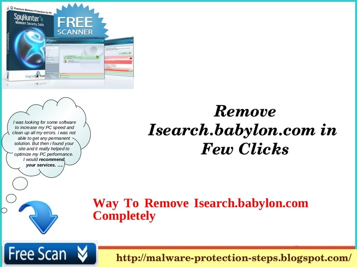 Unable to get rid of babylon toolbar and Isearch.babylon.com redirections? Use this guide. ...