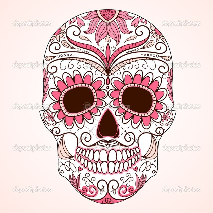depositphotos_27379305-Day-of-The-Dead-colorful-Skull-with-floral-ornament.jpg (1024×1024)