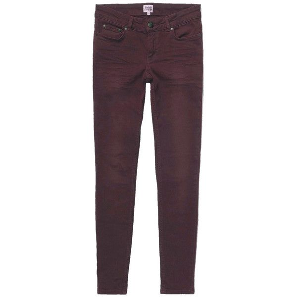 Twist and Tango Sid Ankle Jeans - Bordeaux ($110) ❤ liked on Polyvore featuring jeans, bordeaux, ankle jeans, short pants, purple jeans, slim cut jeans and slim jeans