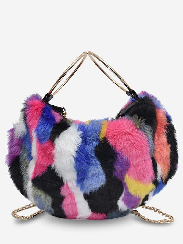 1d1f6f0674ba Statement Fluffy Link Chain Tote Bag