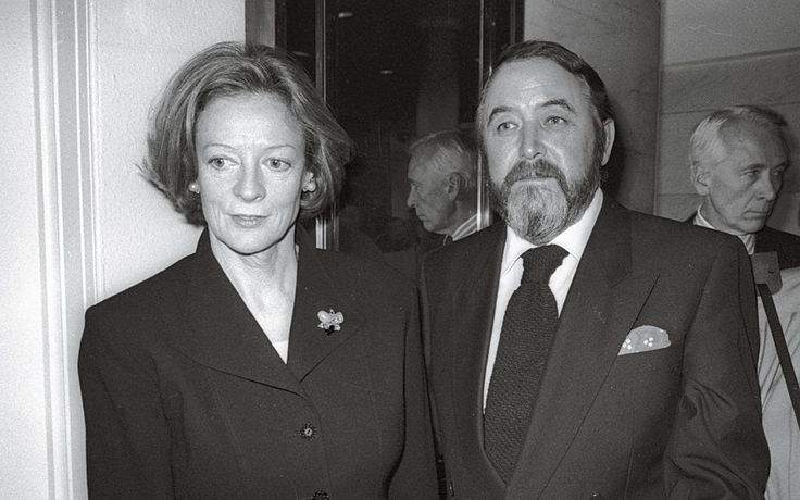 Maggie Smith with her second husband, the writer Beverley Cross