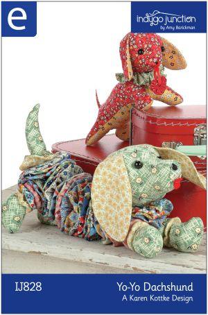 Download Yo-yo Dachshund Sewing Pattern | Crafts | YouCanMakeThis.com