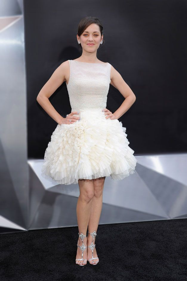 Marion Cotillard in Christian Dior Couture at 'The Dark Knight Rises' premiere in New York, July 2012.