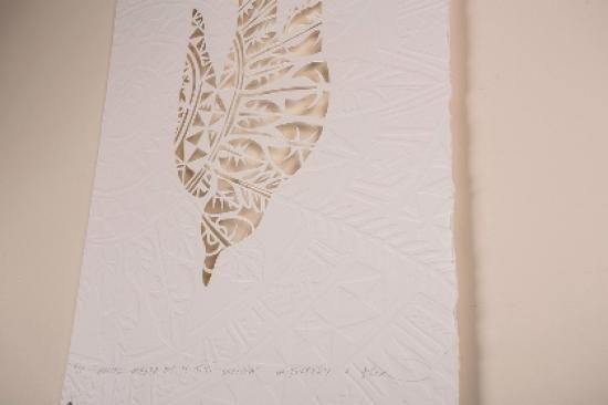 MEITAKI MAATA NO TE TITI MANEA - MICHEL TUFFERY AND FLOX | Emboss/Hand Cut - Open Edition Small: 350mm x 500mm $350 Unframed $485 Framed Large: 450mm x 700mm $450 Unframed $650 Framed | Flox.co.nz