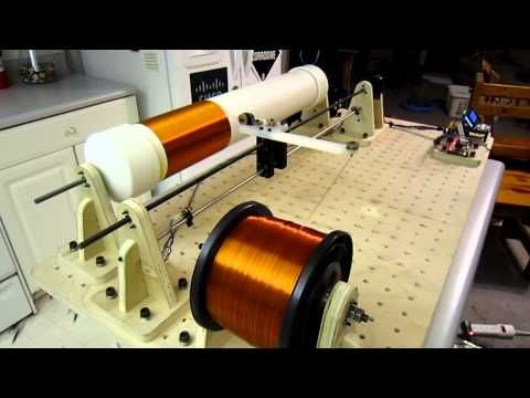 (3) Tesla Coil Winder - Project Icarus: Coil Winding Time lapse - YouTube