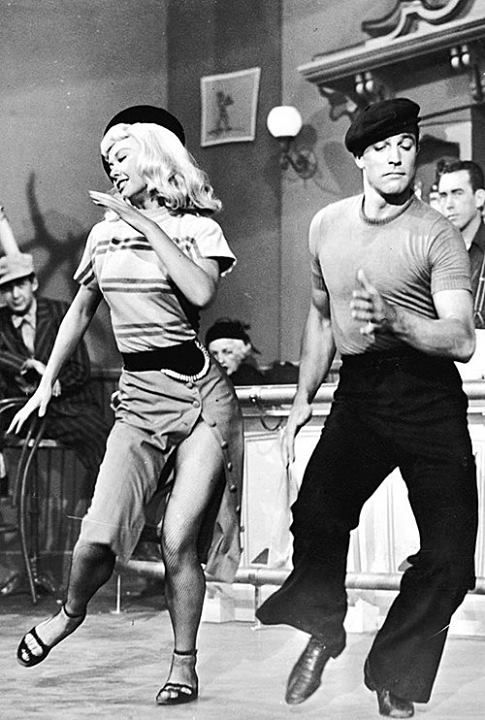 Gene Kelly and Vera Ellen Dancing, Old Hollywood Magnet, Public Domain Image