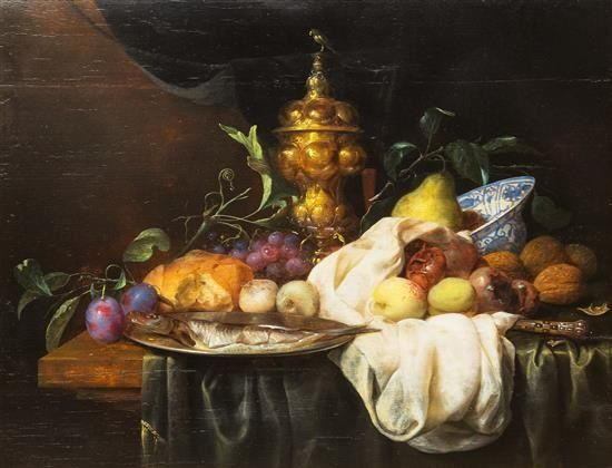 Still Life with Fish and Fruit by Joris van Son