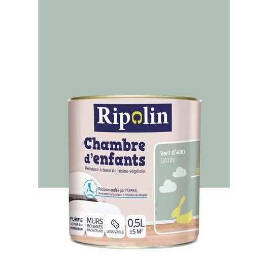 Peinture vert d'eau RIPOLIN Chambre d'enfants 0.5 l