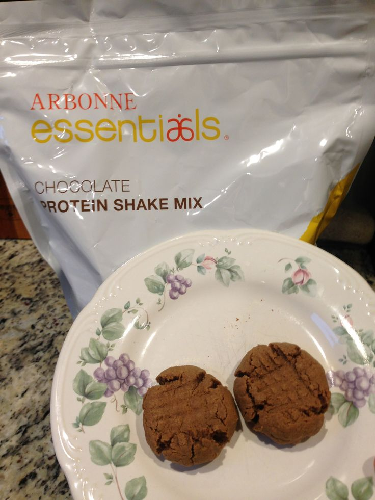 These sugar free, grain free chocolate peanut butter cookies could not be easier! 1 C. Peanut butter, 1 Egg, 2 TBSP arbonne chocolate protein powder and 1 tsp. vanilla. Mix and roll into balls. Bake for 10 min. Enjoy!! KimberleyMazerolle.arbonne.com