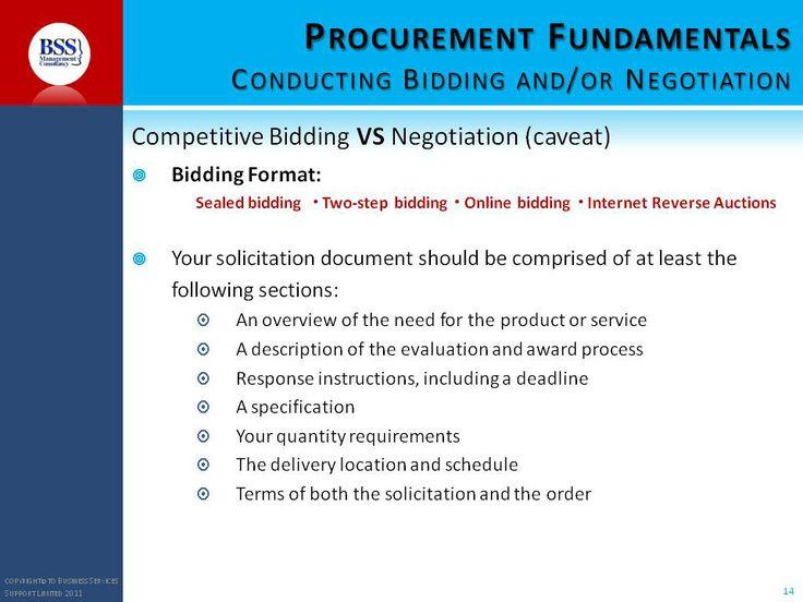 Procurement course materials