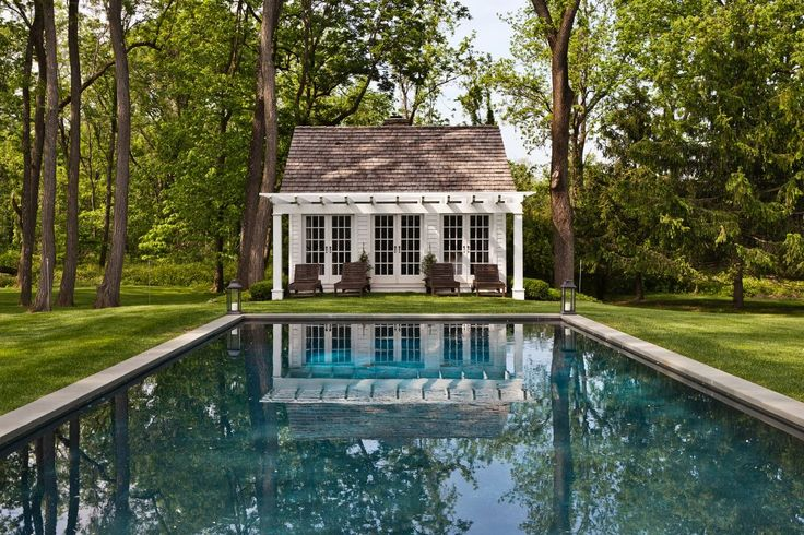 Country pool house house decor ideas pinterest for Houses that have pools