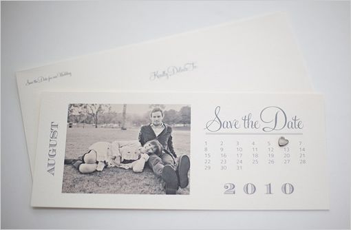Free calendar save the date template