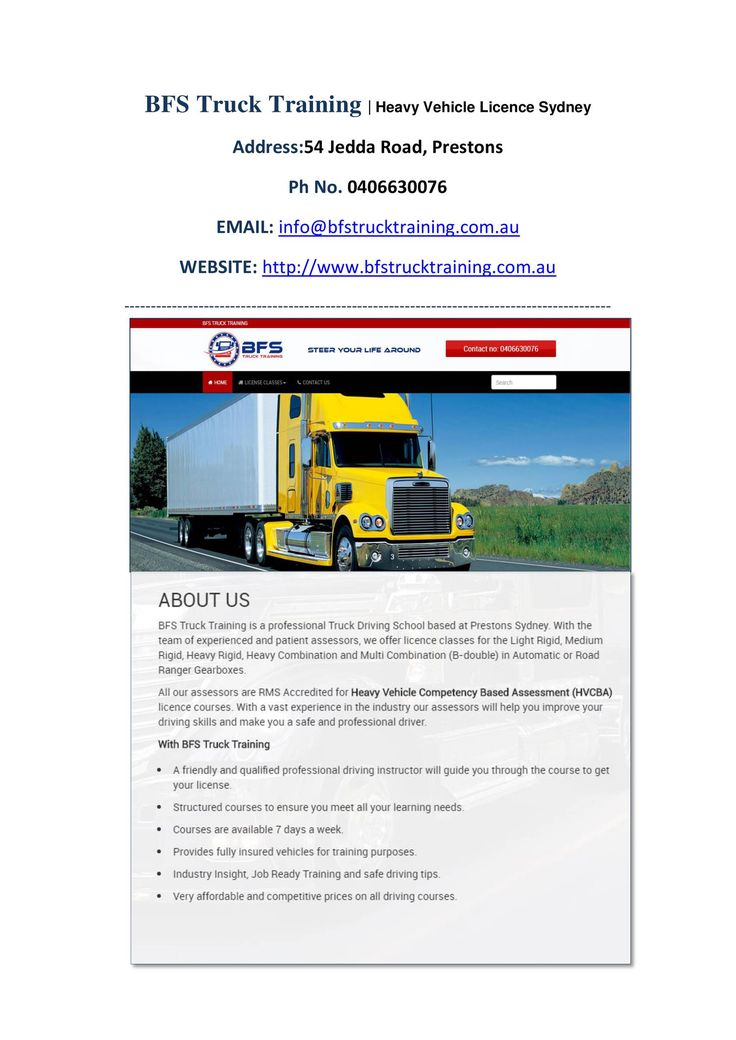 View and download Avail Genuine Heavy Vehicle Licence in Sydney.docx on DocDroid