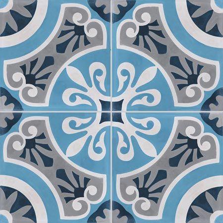 Carreaux de ciment - décors 4 carreaux - Carreau CERCLE 27.07.30.15 - Couleurs & Matières