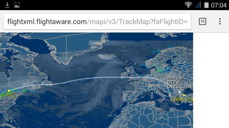 Fatima's flight Toroto - Istanbul) 7:04 AM 27 December, 2015
