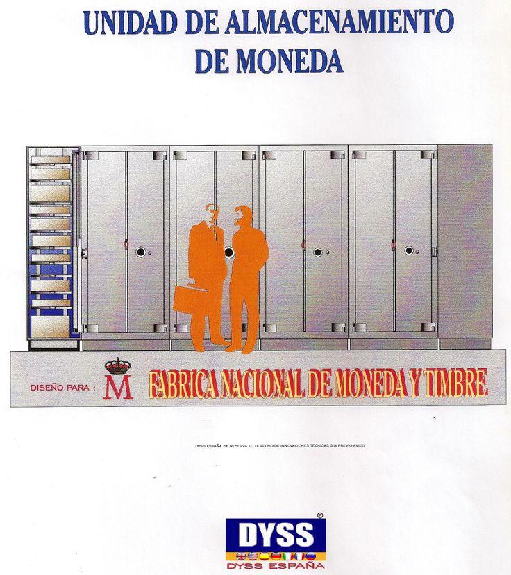 Proyectos armarios acorazados para la Fabrica Nacional de Moneda y Timbre España