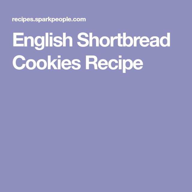 English Shortbread Cookies Recipe