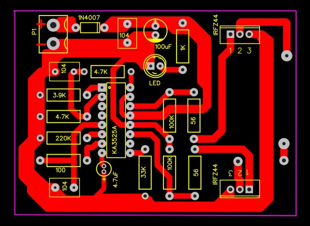 Mini Inverter 12v To 220v Ka3525a Circuit Pcb