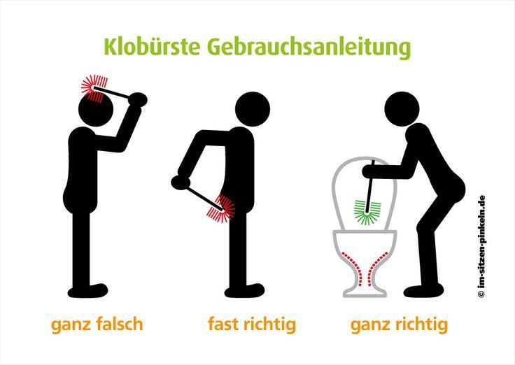 Klobürste Gebrauchsanleitung - falsch, fast richtig ...