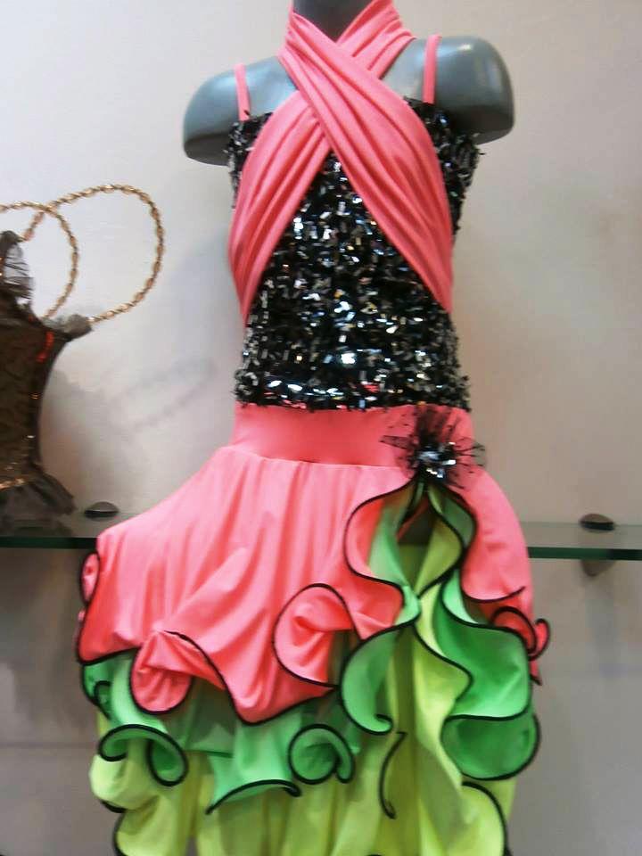 GianniStyle.com Dancewear  Colorful latina dress