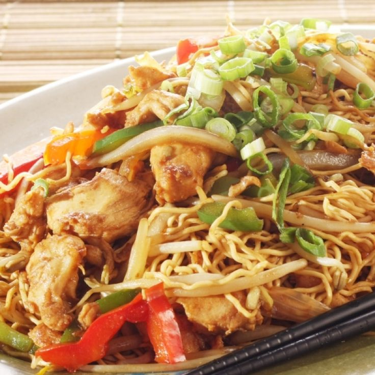 Easy recipe for Chicken Chow Mein which is always a hit for mealtime.