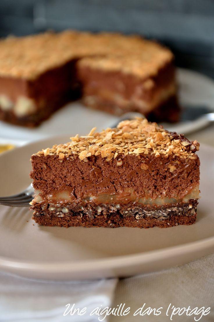 gateau au chocolat avec biscuit croustillant les recettes populaires blogue le blog des g teaux. Black Bedroom Furniture Sets. Home Design Ideas
