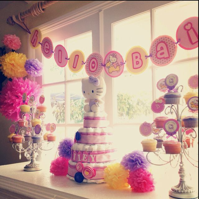A Hello Kitty Themed Baby Shower To Say Hello Bailey! All Decorations  Pictured Were Inspired