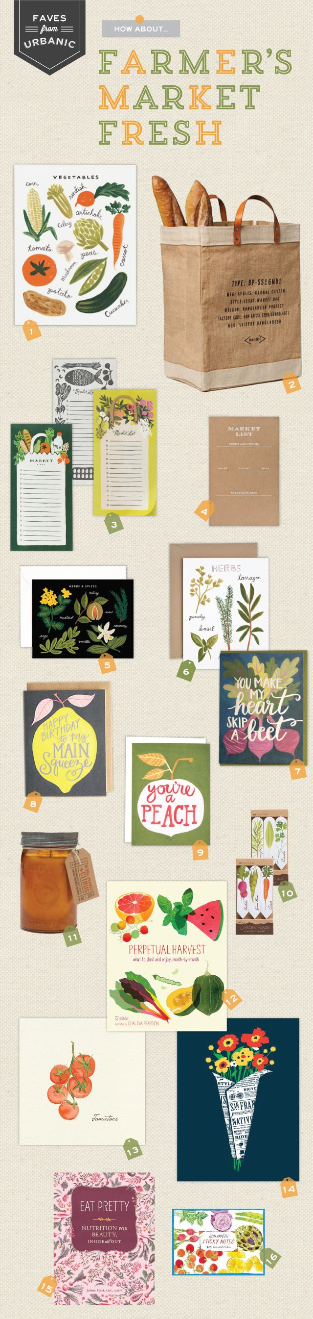 Stationery Round Up Inspired by The Farmer's Market by Urbanic via Oh So Beautiful Paper