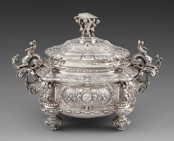 A Massive Victorian 'Turtle' Soup Tureen, Cover & Liner