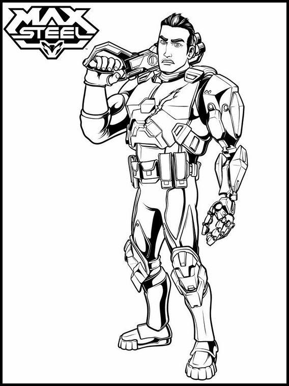 Dibujos para Colorear. Dibujos para imprimir y pintar Max Steel 8 ...