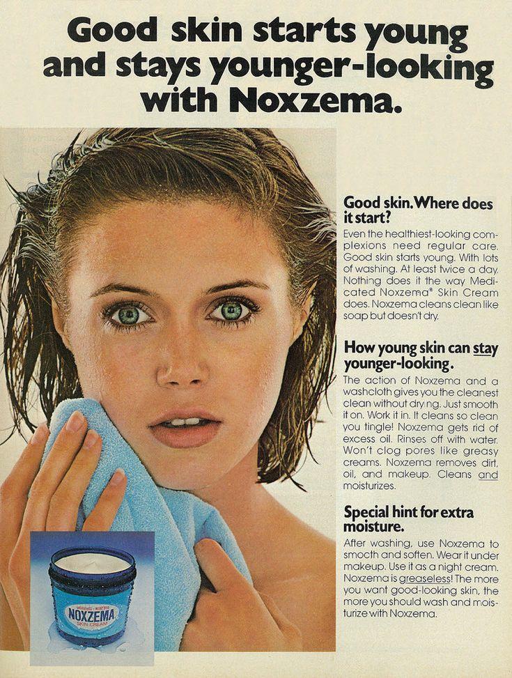 1978 Beauty Ad, Noxzema Skin Cream, with Pretty Brunette Teen Girl   Flickr - Photo Sharing!