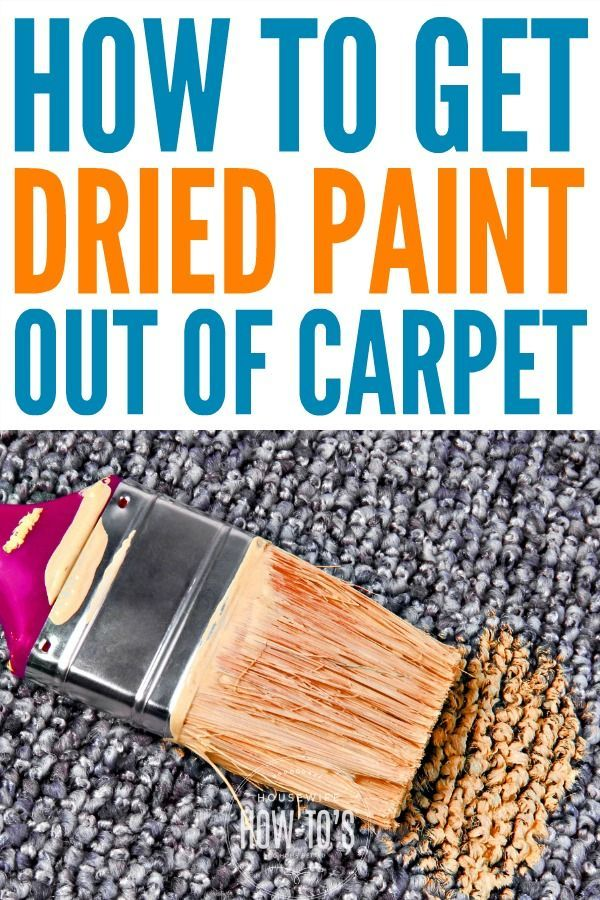 How To Get Dried Paint Out Of Carpet Diy Projects Can Get Messy These Steps Got Old Paint Out Of My Ca Stain Remover Carpet Diy Carpet How To Clean Carpet