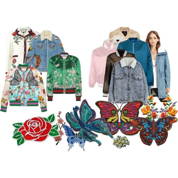 DIY Gucci--Embroidered Jackets by writerjw on Polyvore featuring Gucci, Forever 21, Cameo Rose and New Look
