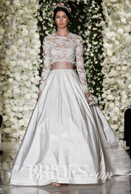 Brides: Reem Acra Wedding Dresses   Fall 2015   Bridal Runway Shows   Brides.com | Wedding Dresses Style