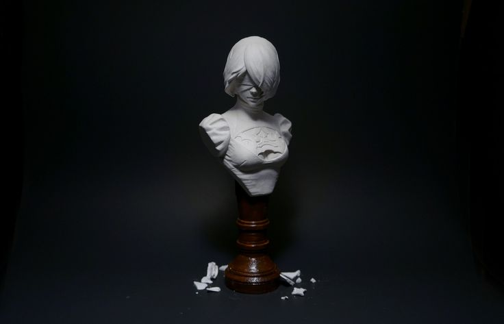 I sculpted 2B the beautiful white-haired android from one of my favorite games of this year Nier: Automata! http://ift.tt/2vcnDfD Check out Mystikz Gaming http://ift.tt/2tVNFmJ