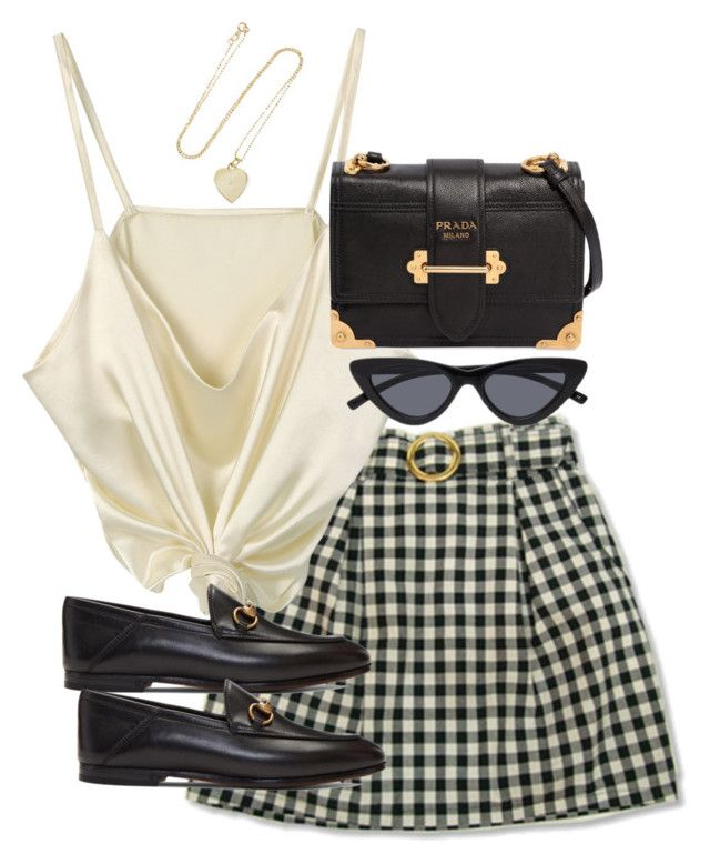 """""""Untitled #5282"""" by theeuropeancloset on Polyvore featuring Jennifer Meyer Jewelry, Gucci and Prada"""