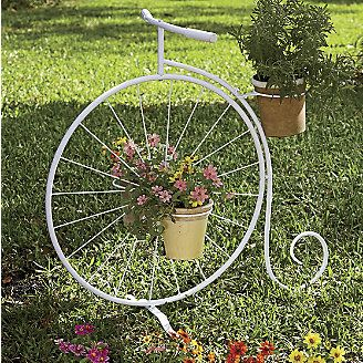 17 best images about triciclos de jard n on pinterest fairy gardening plant stands and tricycle - Bicycle planter stand ...