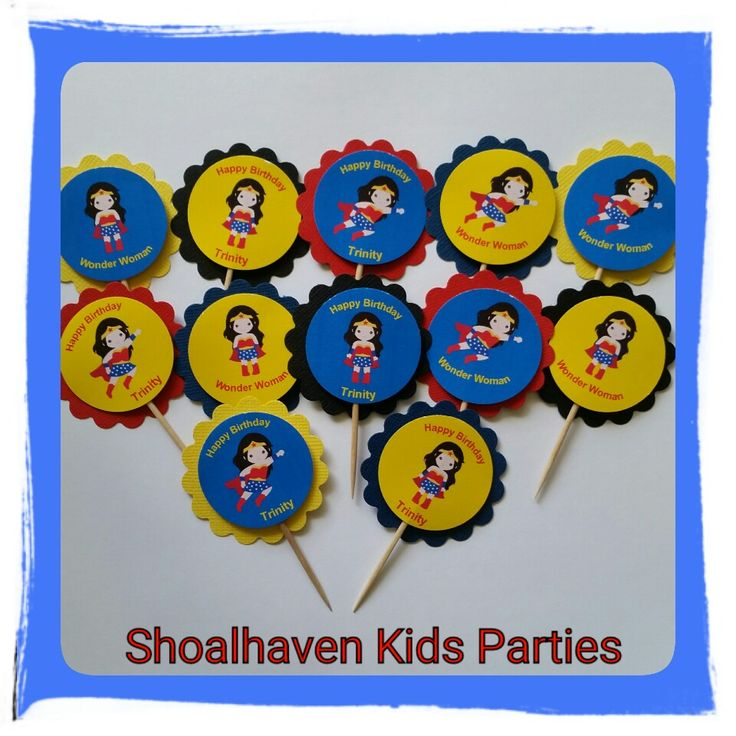 Superhero Girl Cupcake Toppers