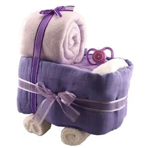 cute carriage made of baby blankets!