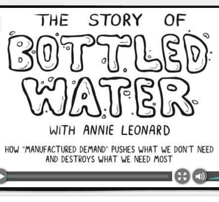 The Story of Bottled Water, released on March 22, 2010 (World Water Day) employs the Story of Stuff style to tell the story of manufactured demand—how you get people to buy more than half a billion bottles of water every week when it already flows from the tap. Over five minutes, the film explores the bottled water industrys attacks on tap water and its use of seductive, environmental-themed advertising to cover up the mountains of plastic waste it produces.