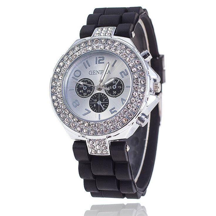Elegantní dámské hodinky se zirkony a silikonovým páskem černé + POŠTOVNÉ ZDARMA Na tento produkt se vztahuje nejen zajímavá sleva, ale také poštovné zdarma! Využij této výhodné nabídky a ušetři na poštovném, stejně jako to …