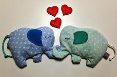 Elefanten in love. #Körnerkissen #Rapssamen